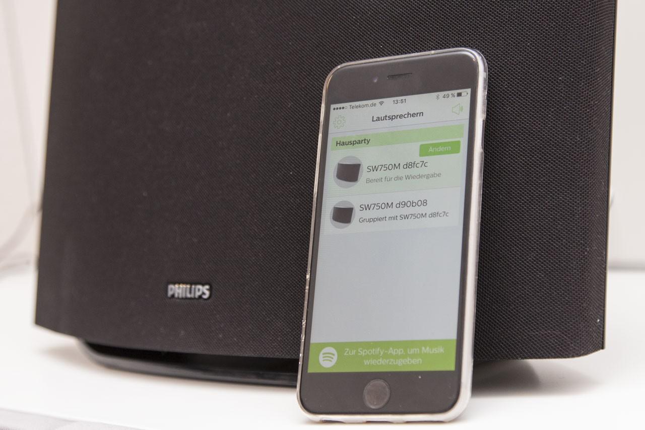 Ohne App geht nichts: SpeakerSet dient als Schaltzentrale.