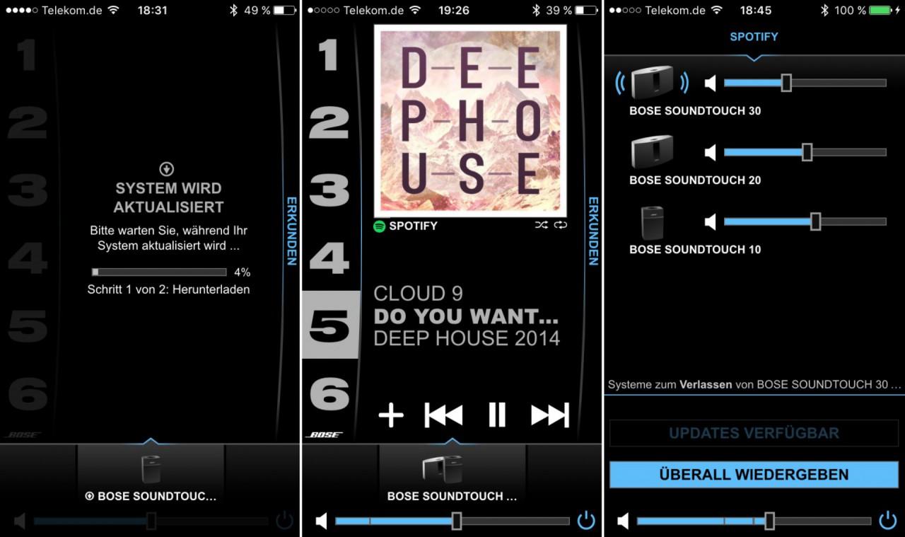 Bose Soundtouch App: Update, Spotifywiedergabe und Multiroomsteuerung