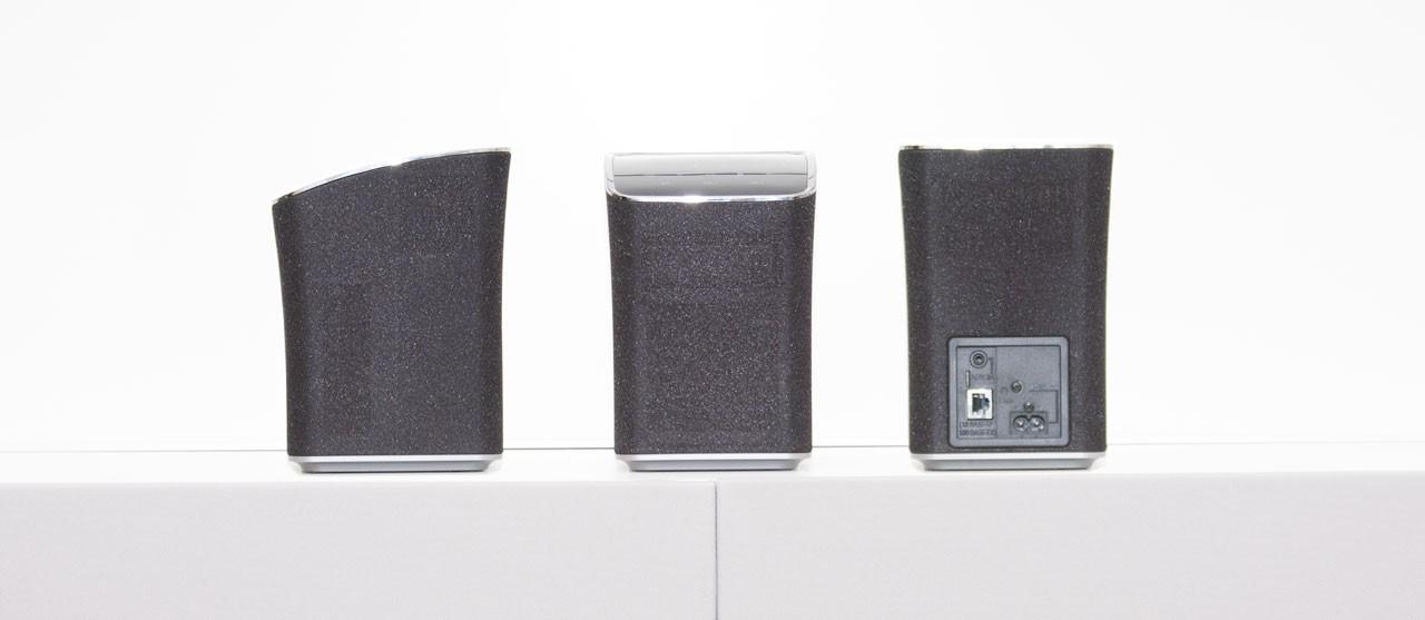 Hübsch und extravagant kommt der Lautsprecher daher.