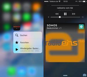 Sonos Software 6.3 jetzt mit Peek and Pop